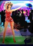 Bello modello di Dancing Fotografia Stock Libera da Diritti