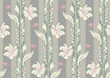 Bello modello di fiore senza cuciture con il fondo grigio delle tonalità illustrazione di stock