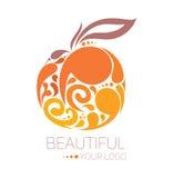 Bello modello di logo Fotografie Stock Libere da Diritti