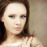 Bello modello di modo della donna Fotografia Stock