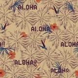 Bello modello esotico tropicale senza cuciture della palma sulla b beige Fotografie Stock