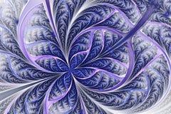 Bello modello, fiore o farfalla gelido nello stile della finestra di vetro macchiato illustrazione di stock