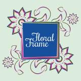 Bello modello floreale della struttura di stile contemporaneo royalty illustrazione gratis