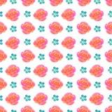 Bello modello floreale senza cuciture, illustrazione del fiore Fotografia Stock Libera da Diritti
