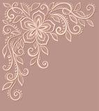 Bello modello floreale, un elemento di progettazione in  illustrazione di stock
