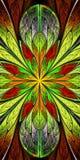 Bello modello multicolore di frattale nella finestra di vetro macchiato s Fotografia Stock Libera da Diritti
