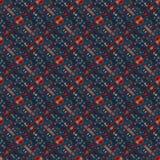 Bello modello orientale senza cuciture della decorazione del tappeto, ornamento astratto di in tondo e quadrato o elementi del ro Immagine Stock