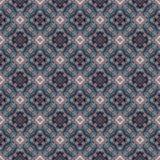 Bello modello orientale senza cuciture della decorazione del tappeto, ornamento astratto di in tondo e quadrato o elementi del ro Fotografie Stock