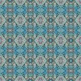 Bello modello orientale senza cuciture della decorazione del tappeto, ornamento astratto di in tondo e quadrato o elementi del ro Immagine Stock Libera da Diritti