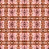 Bello modello orientale senza cuciture della decorazione del tappeto, ornamento astratto di in tondo e quadrato o elementi del ro Immagini Stock