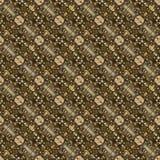 Bello modello orientale senza cuciture della decorazione del tappeto, ornamento astratto di in tondo e quadrato o elementi del ro Fotografia Stock Libera da Diritti