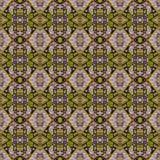 Bello modello orientale senza cuciture della decorazione del tappeto, ornamento astratto di in tondo e quadrato o elementi del ro Fotografia Stock