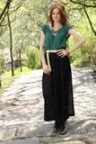 Bello modello in pantaloni del raccolto Fotografie Stock