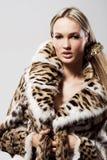 Bello modello in pelliccia Fotografia Stock Libera da Diritti