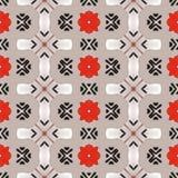 Bello modello rosso e grigio senza cuciture illustrazione di stock