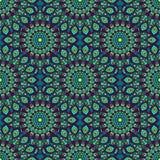 Bello modello senza cuciture orientale verde e porpora del blu, dell'alzavola, Fotografia Stock Libera da Diritti