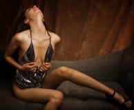 Bello modello sexy del latino Fotografia Stock