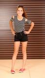 Bello modello teenager della ragazza Immagini Stock
