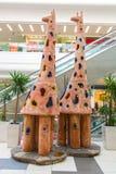Bello monumento della giraffa Fotografie Stock Libere da Diritti