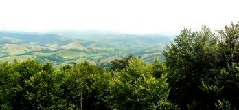 Bello Mountain View Immagini Stock