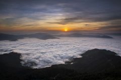 Bello Mountain View Doi Pha Tang in Chiangrai Immagini Stock Libere da Diritti