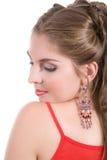 Bello orecchino Fotografia Stock
