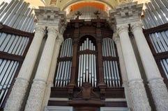 Bello organo ad Art Museum a Barcellona fotografia stock