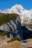 Bello orientamento del ritratto delle montagne Fotografie Stock Libere da Diritti