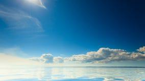 Bello orizzonte e cielo di mare di vista sul mare Immagine Stock Libera da Diritti