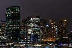 Bello orizzonte Sydney vicino al downtonw del porto di opera fotografia stock libera da diritti