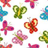 Bello ornamento con le farfalle Fotografia Stock