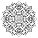 Bello ornamento floreale indiano Fotografia Stock