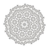 Bello ornamento floreale indiano mandala Immagine Stock
