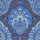 Bello ornamento senza cuciture floreale indiano Mandala etnica hennè Fotografia Stock Libera da Diritti