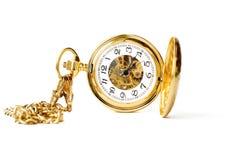 bello orologio della casella in oro Fotografia Stock