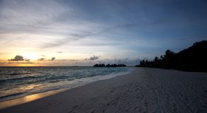 Bello paesaggio al sunse Immagine Stock