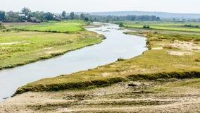 Bello paesaggio alla campagna del Myanmar Immagini Stock