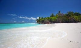Bello paesaggio alla spiaggia Immagine Stock