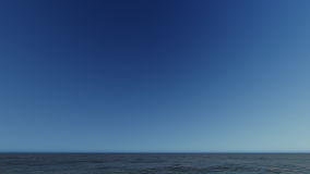 Bello paesaggio ardente di tramonto alla rappresentazione del mare 3D Fotografia Stock