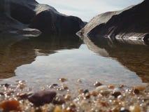 Bello paesaggio astratto dell'acqua immagini stock