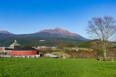 Bello paesaggio con il supporto Kirishima Fotografia Stock