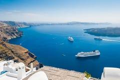 Bello paesaggio con la vista del mare Fotografie Stock Libere da Diritti