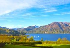 Bello paesaggio con le alpi, terra di Salzburger, Austria Immagine Stock