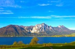 Bello paesaggio con le alpi, terra di Salzburger, Austria Immagini Stock
