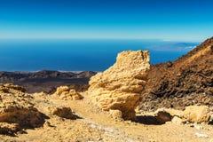 Bello paesaggio con le montagne Teide fotografia stock libera da diritti