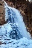 Bello paesaggio congelato alla cascata di Krimml, Austria Fotografie Stock Libere da Diritti
