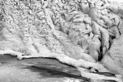 Bello paesaggio congelato alla cascata di Krimml, Austria Immagini Stock Libere da Diritti