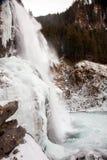 Bello paesaggio congelato alla cascata di Krimml, Austria Fotografia Stock