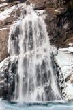 Bello paesaggio congelato alla cascata di Krimml, Austria Fotografia Stock Libera da Diritti