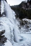 Bello paesaggio congelato alle cascate di Krimml, Austria Immagini Stock